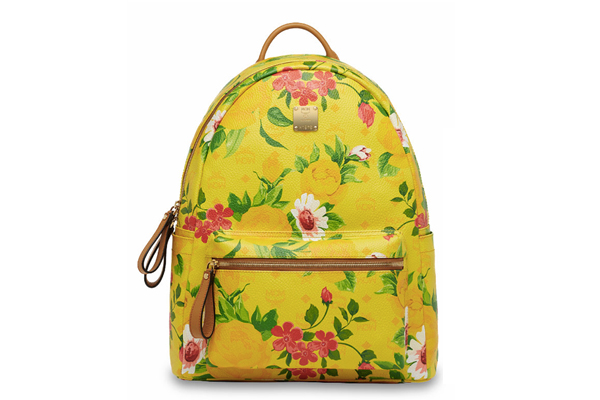 MCM Paradiso Spring Summer 2014 Collection Yellow Backpack