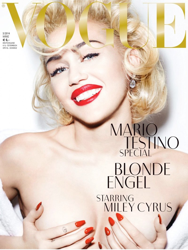 Miley Cyrus for Vogue Germany March 2014 photographed by Mario Testino