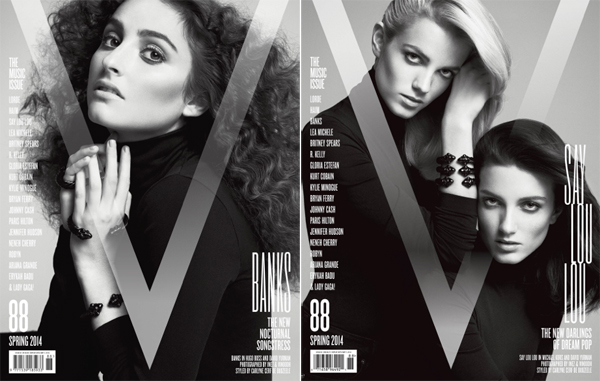 LORDE, Haim, Say Lou Lou, & BANKS for V Magazine Music Issue-2