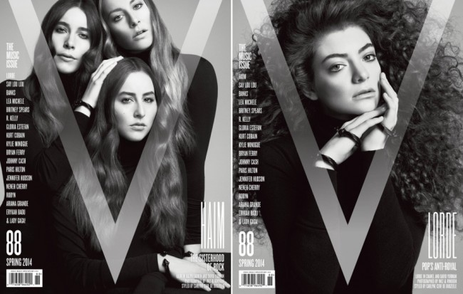LORDE, Haim, Say Lou Lou, & BANKS for V Magazine Music Issue