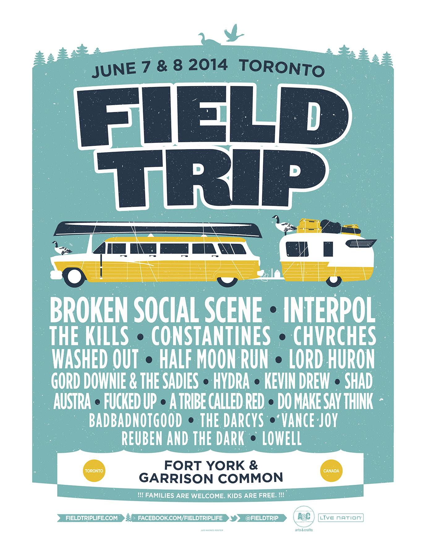 Field Trip Music & Arts Festival 2014 Line Up