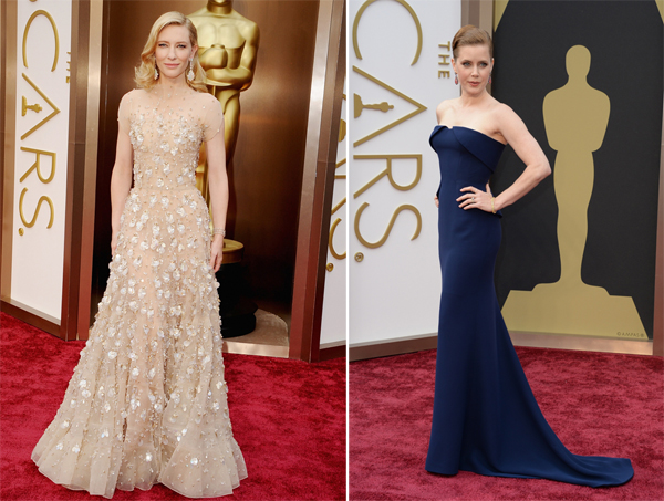 Cate Blanchett in Giorgio Armani & Amy Adams in Gucci Couture and Tiffany & Co Oscars 2014
