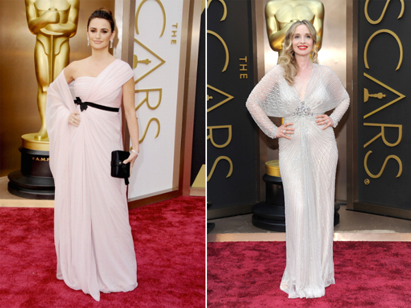 Julie Delpy in Jenny Packham & Penelope Cruz in Giambattista Valli Oscars 2014