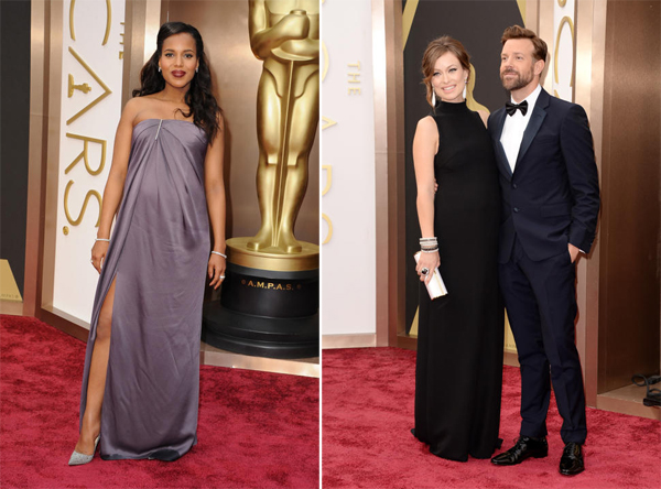 Kerry Washington Jason Wu & Olivia Wilde in Valentino and Jason Sudeikis in Prada Oscars 2014