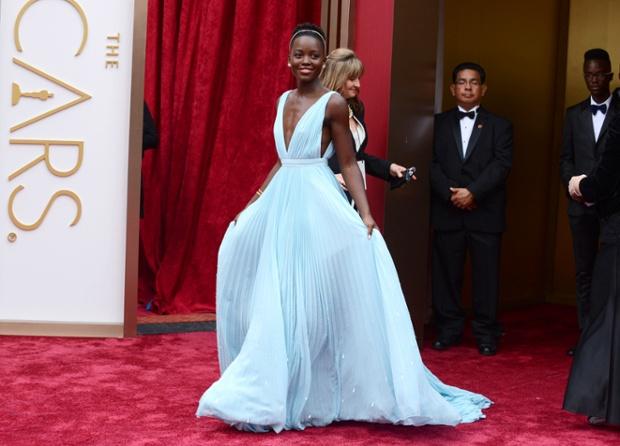Lupita Nyong'o Oscars 2014 Prada