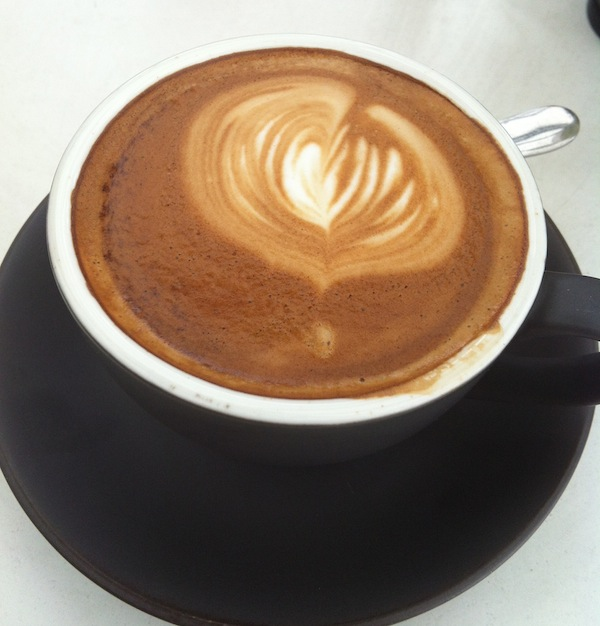 Flat White at Young Bloods Diner Melbourne