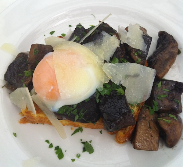 Toasted Briche with Field Mushrooms Young Bloods Diner Melbourne