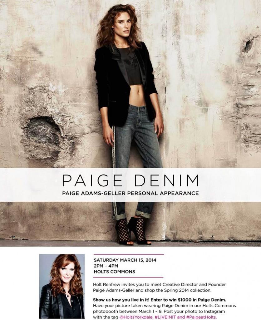 Paige Adams-Geller at Holt Renfrew Yorkdale