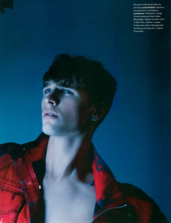 Edward Wilding Photographed by Karl Lagerfeld for Numero Homme