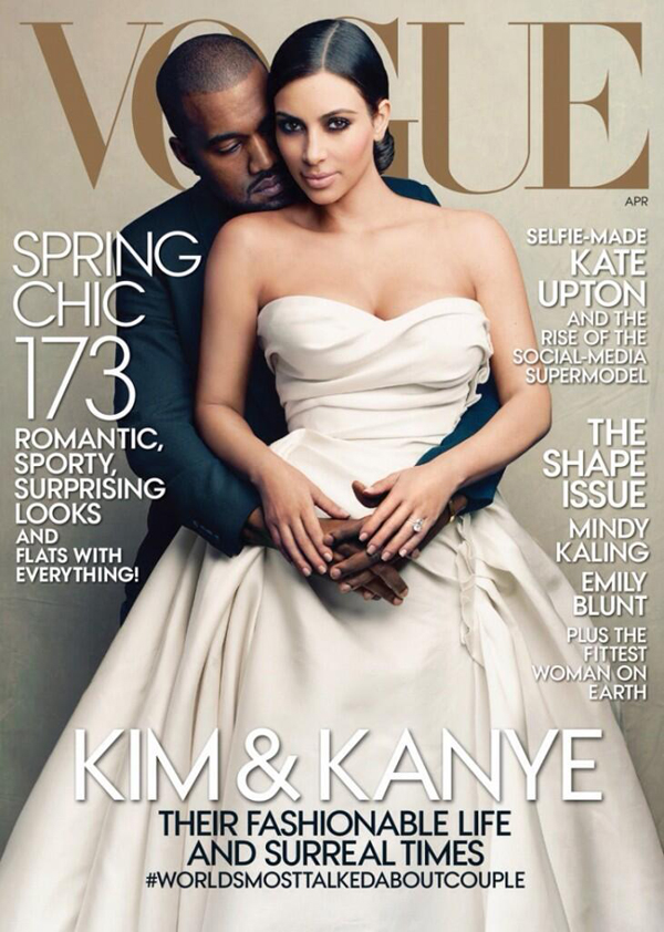 Kanye West and Kim Kardashian Cover Vogue April 2014