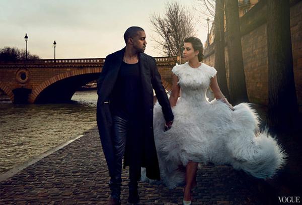Kanye West Kim Kardashian North West in Vogue April 2014