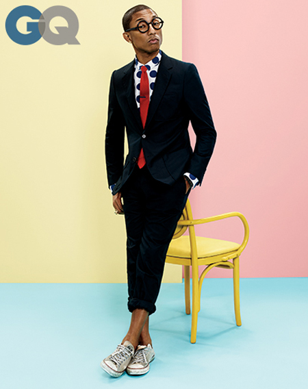 Pharrell for GQ April 2014