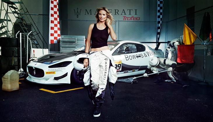 Heidi Klum for Maserati 2014