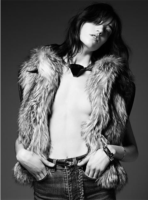 Saint Laurent Pre-Fall 2014 Collection Lookbook Grace Hartzel