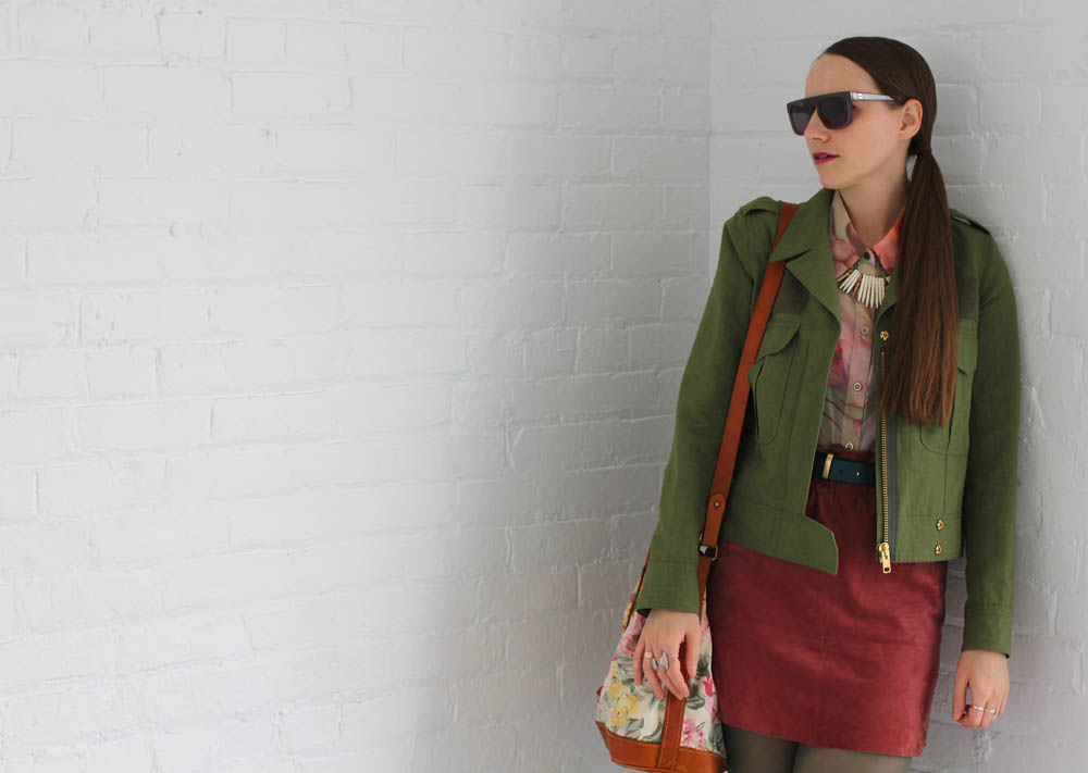 What I Wore Military Florals Smythe
