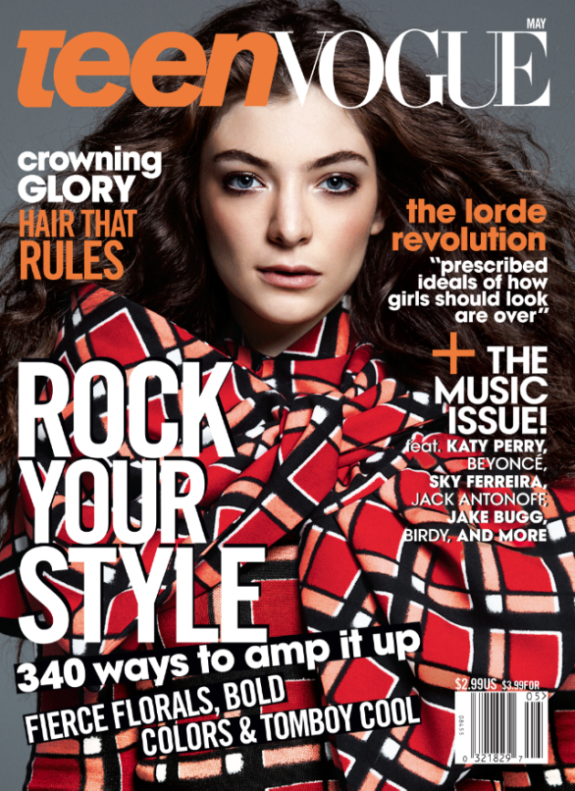 Lorde for Teen Vogue May 2014