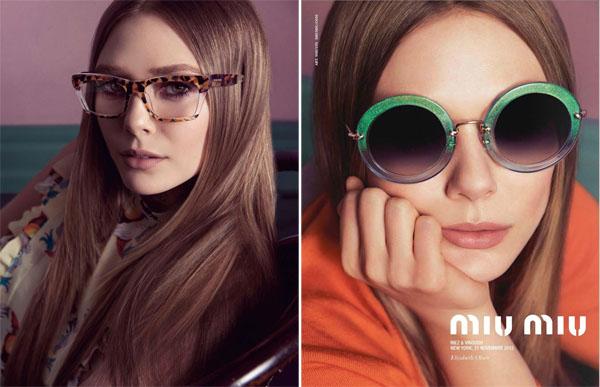 Elizabeth Olsen for Miu Miu Eyewear