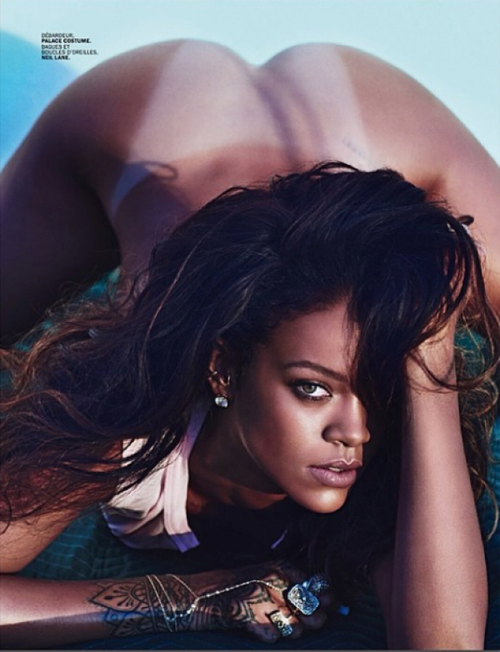 Rihanna Poses Nude for Lui Magazine