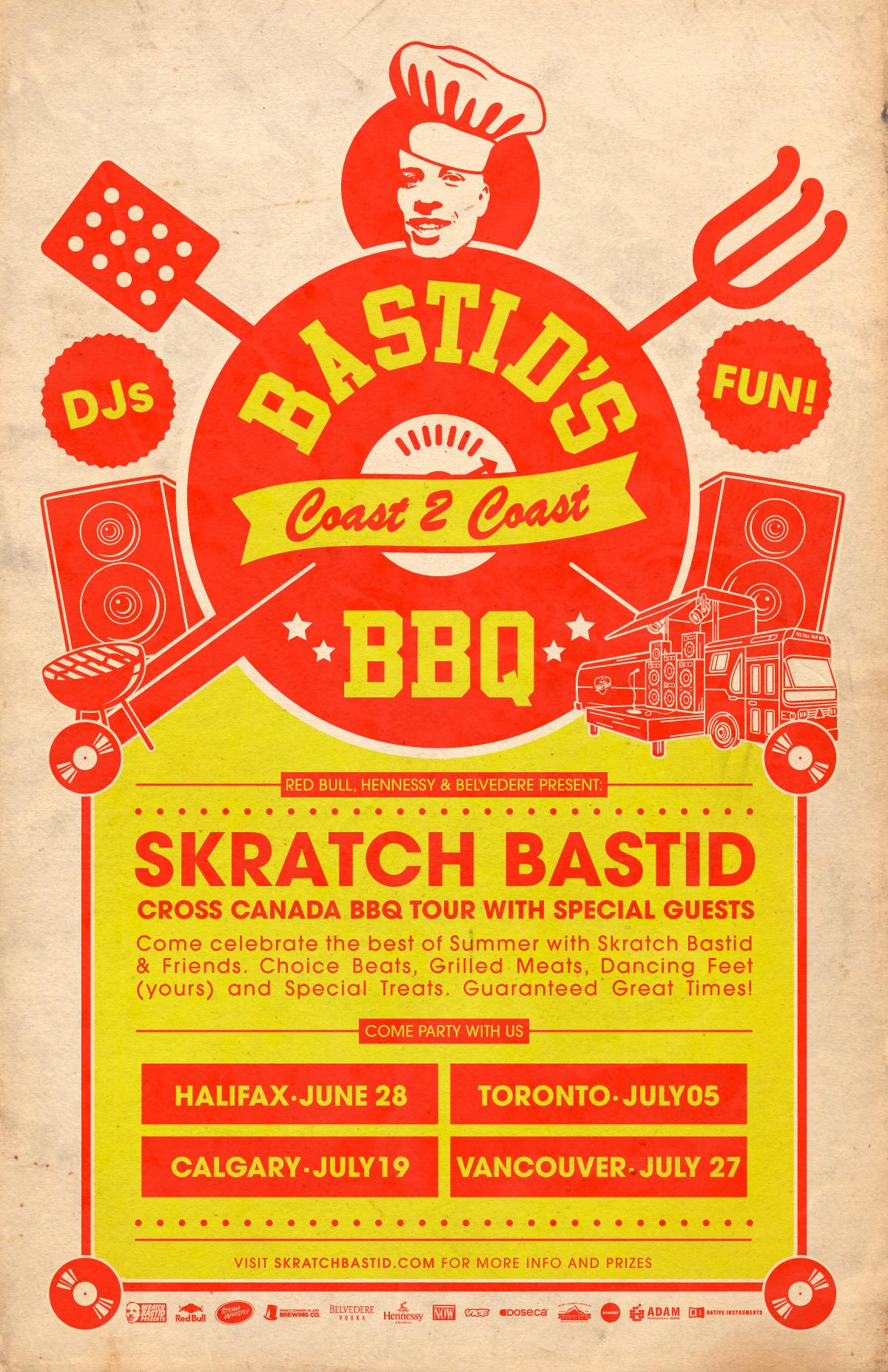 Skratch Bastid Brings Bastid's BBQ 2014 Canada