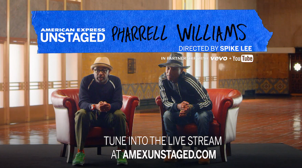 American Express UNSTAGED presents Pharrell Williams directed by Spike Lee