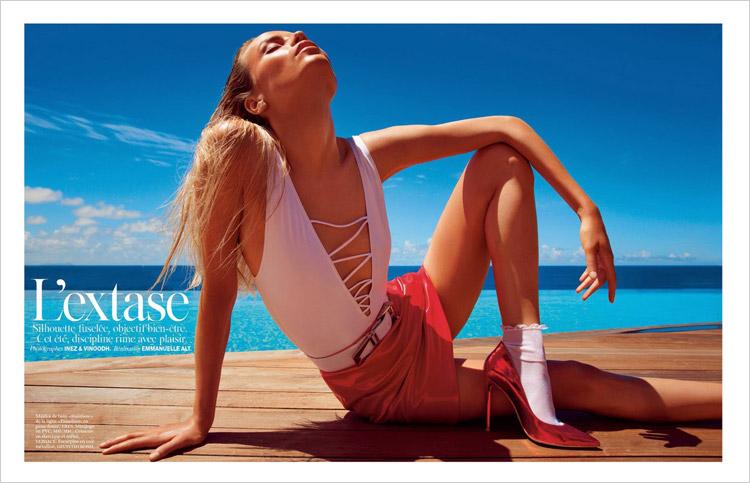 Natasha Poly & Anna Ewers for Vogue Paris-3