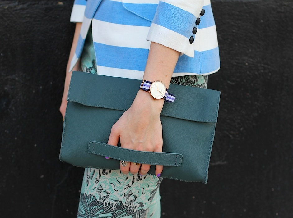 What I Wore Business Casual June 2014 Ecco Bag Detail
