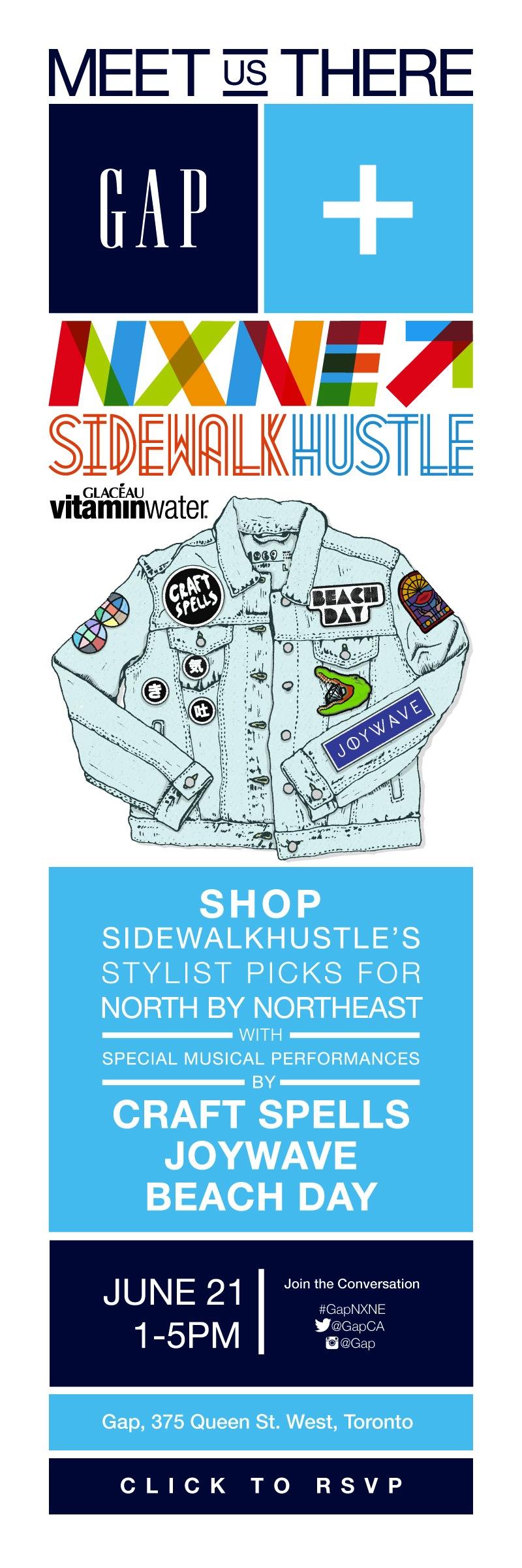 GAP x NXNE X Sidewalk Hustle Show June 21st long