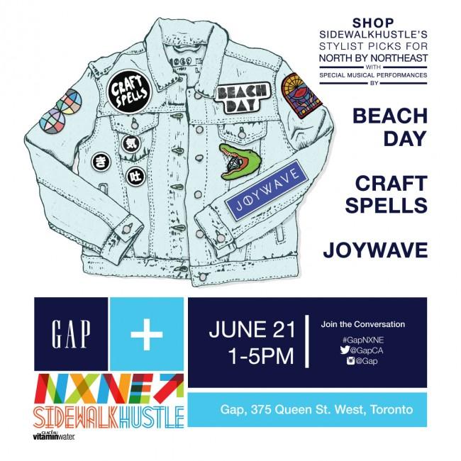 GAP x NXNE X Sidewalk Hustle Shwo June 21st