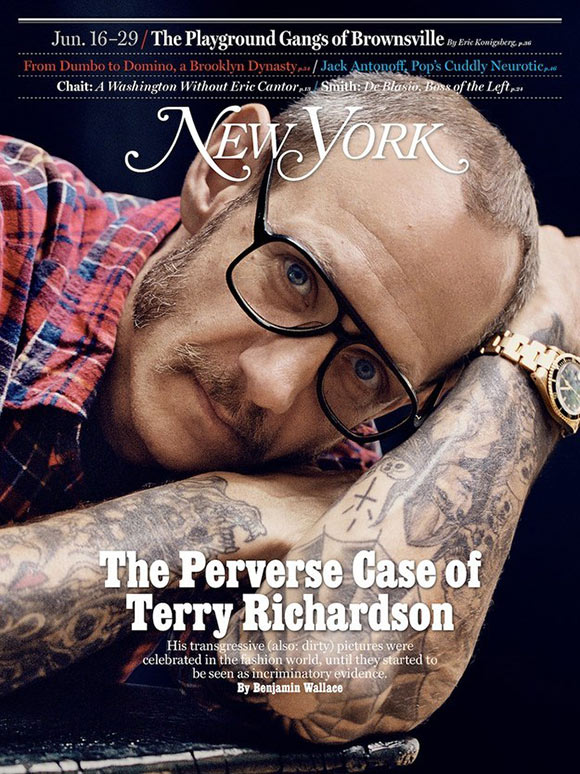 Terry Richardson for New York Magazine by Cass Bird