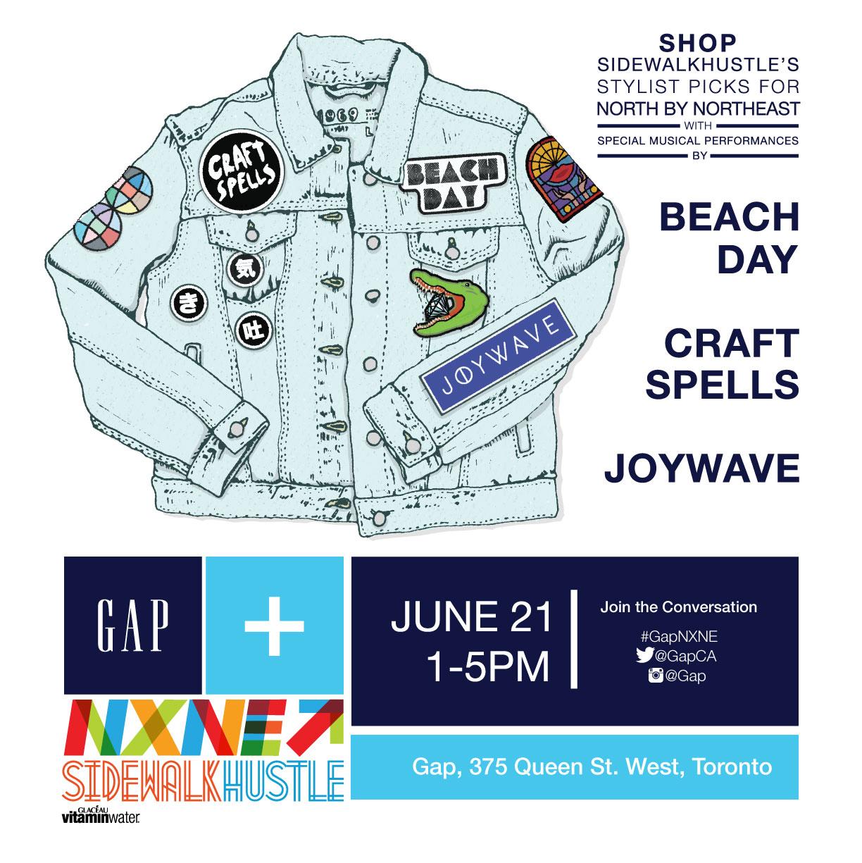 GAP x NXNE X Sidewalk Hustle Show June 21st