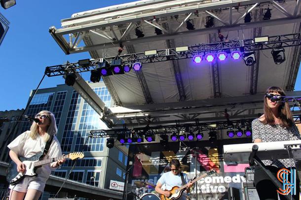 Alvvays at Yonge Dundas Square NXNE 2014