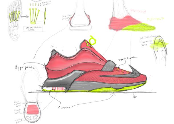 Nike KD7 35,000 Degrees sketch