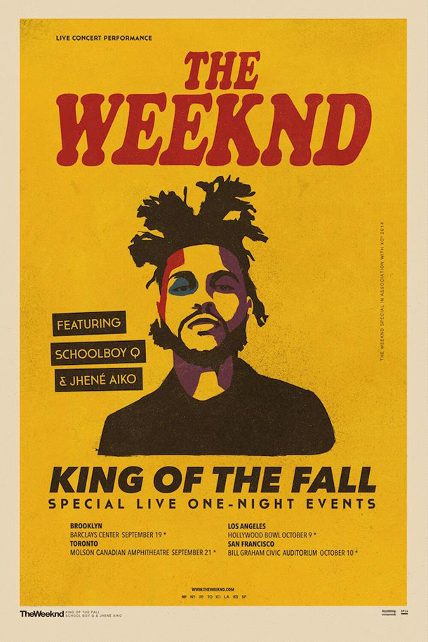 The Weeknd King of the Fall Tour Schoolboy Q Jhene Aiko