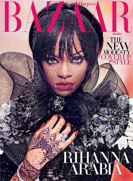 Rihanna for Harpers Bazaar Arabia July August 2014