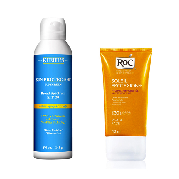 Kiehl's Sun Protector & RoC's SOLEIL PROTEXION+