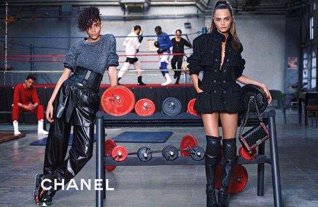 Cara Delevingne & Binx Walton for Chanel Fall Winter 2014 2015