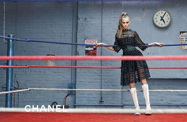 Cara Delevingne & Binx Walton for Chanel Fall Winter 2014-2015