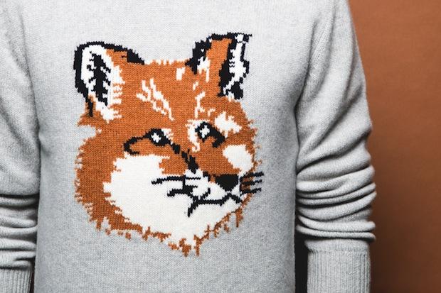 maison-kitsune-fall-2014-fox-sweaters-4