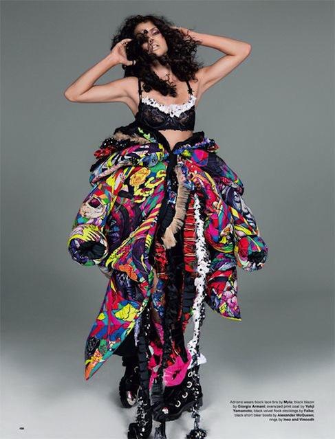 Adriana Lima & Christy Turlington for LOVE No.12 F:W 2014-16