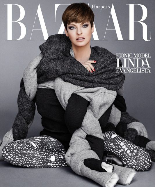 Lady Gaga, Linda Evangelista, & Penelope Cruz for Harper's Bazaar September 2014-4