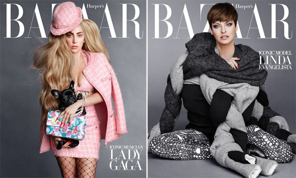 Lady Gaga, Linda Evangelista, & Penelope Cruz for Harper's Bazaar September 2014