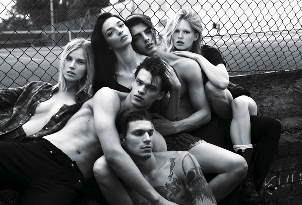 Super Normal Super Models for W Magazine by Mert Marcus-5