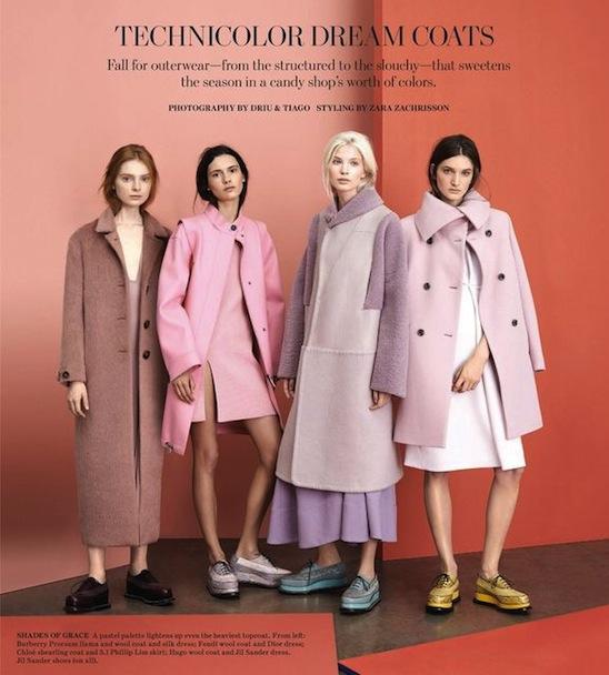 Technicolor Dream Coats WSJ Magazine September 2014