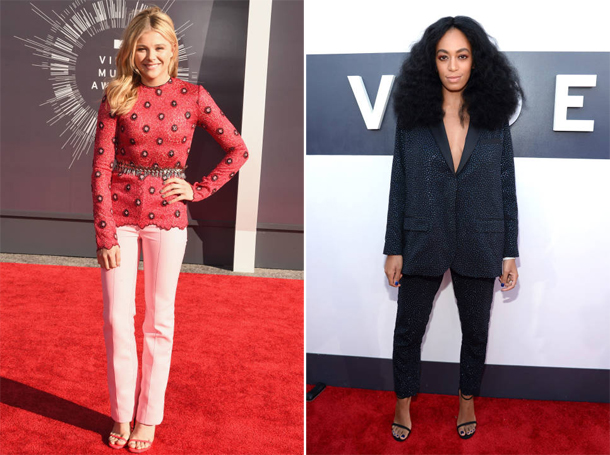 Chloe Grace Moretz and Solange at MTV VMA 2014