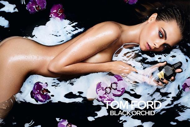Tom Ford Black Orchid Fragrance Campaign Cara Delevingne