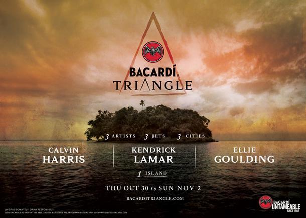 BACARDi Triangle with Calvin Harris Kendrick Lamar Ellie Goulding