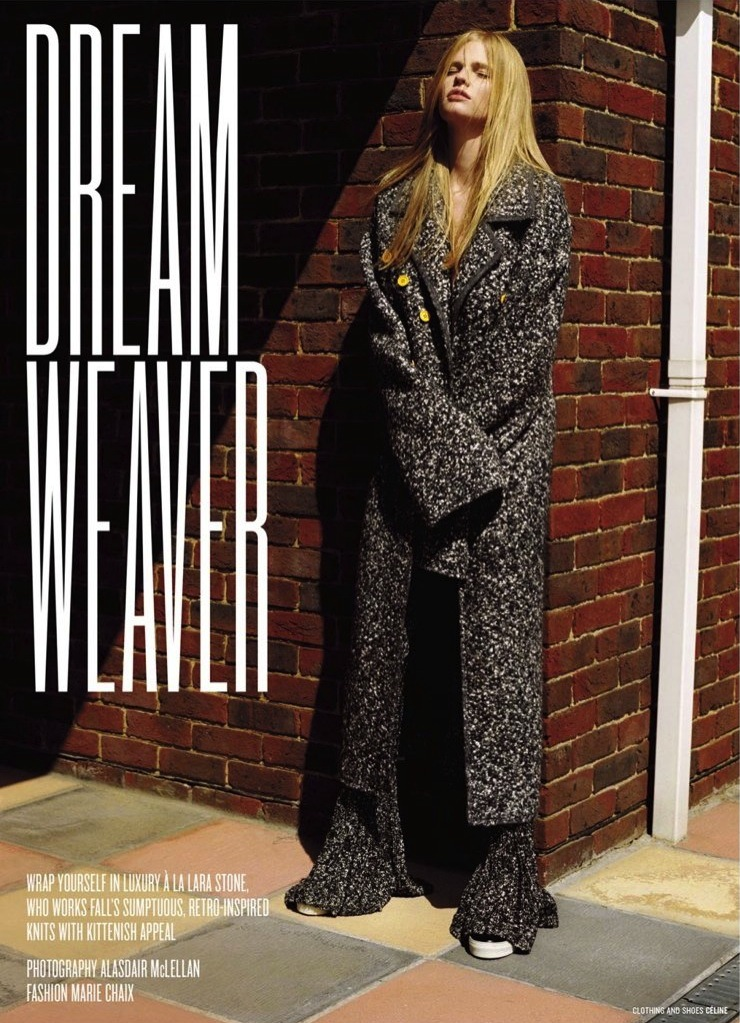 Lara Stone for V Magazine Fall Winter 2014