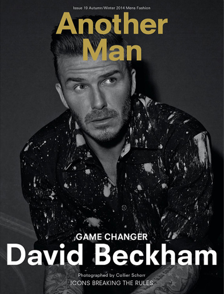 David Beckham Another Man Cover Fall Winter 2014 Issue