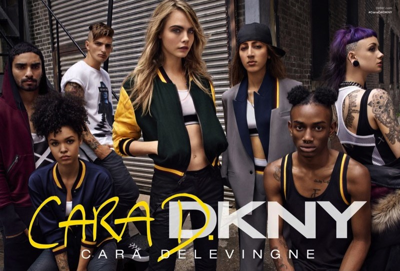 Cara Delevingne for DKNY Fall 2014-2