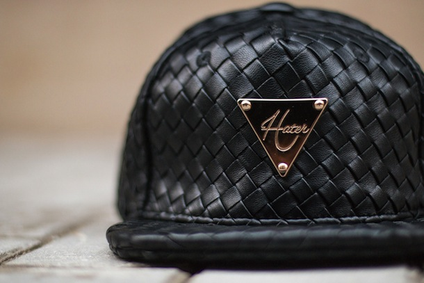 Hater Snapback Grain Leather Intrecciato Collection-5